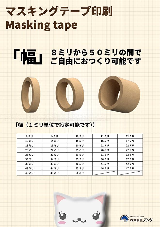 マスキングテープ印刷方式